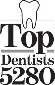 Denver Co dentist office ranked top dentists from 5280 Magazine